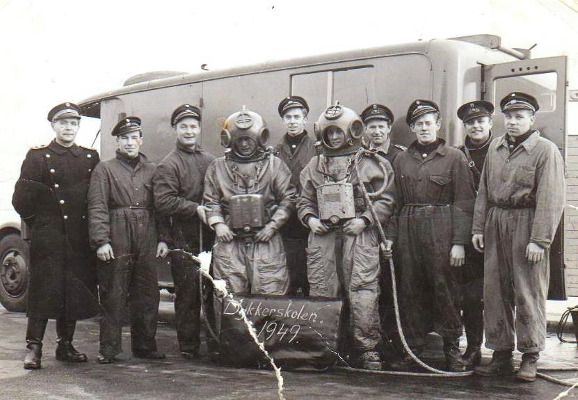 Ejnar`s familie 007 Københavns Brandvæsen Dykkerskole 1949